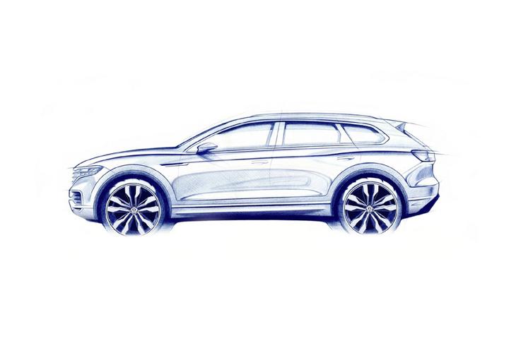 Новый Volkswagen Touareg показан наофициальном видео